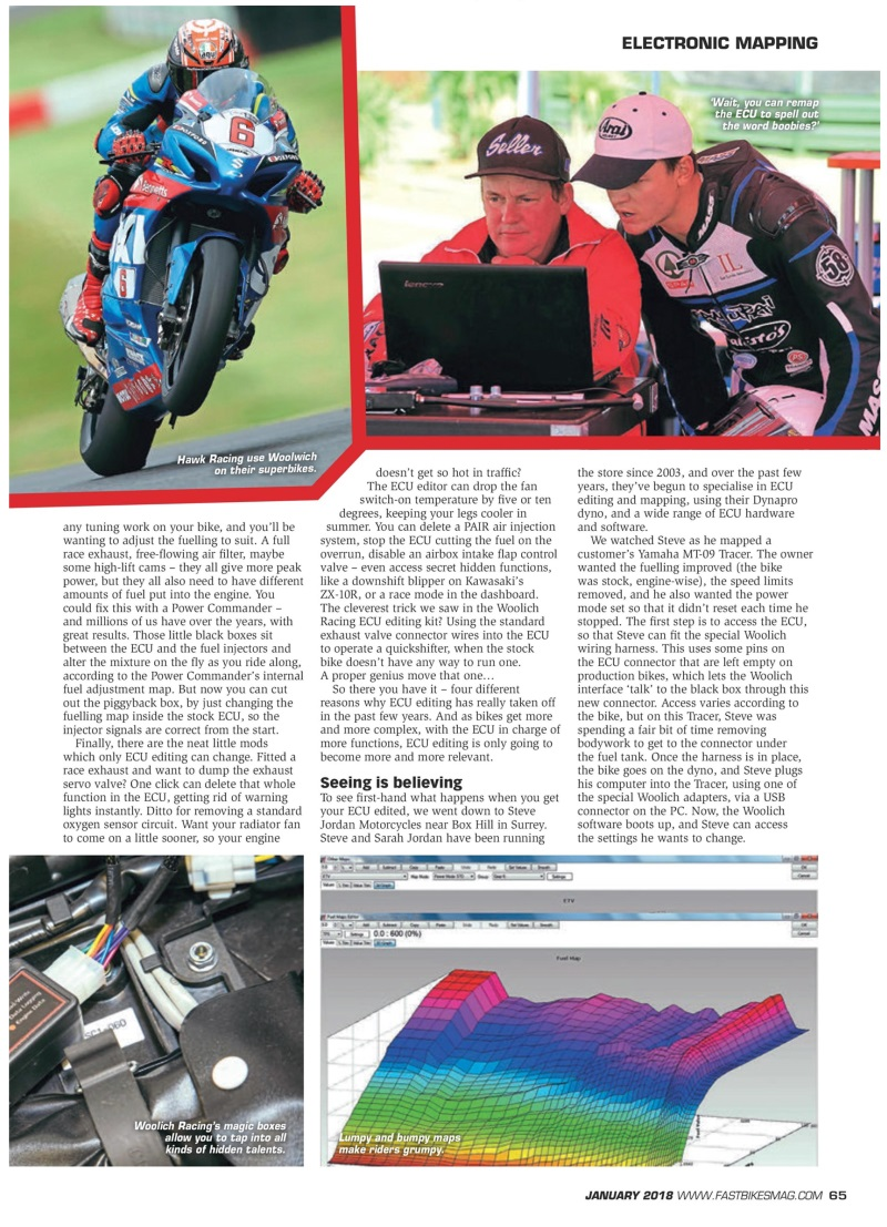 Electronic Mapping - Plug and Play Performance - Fast Bikes