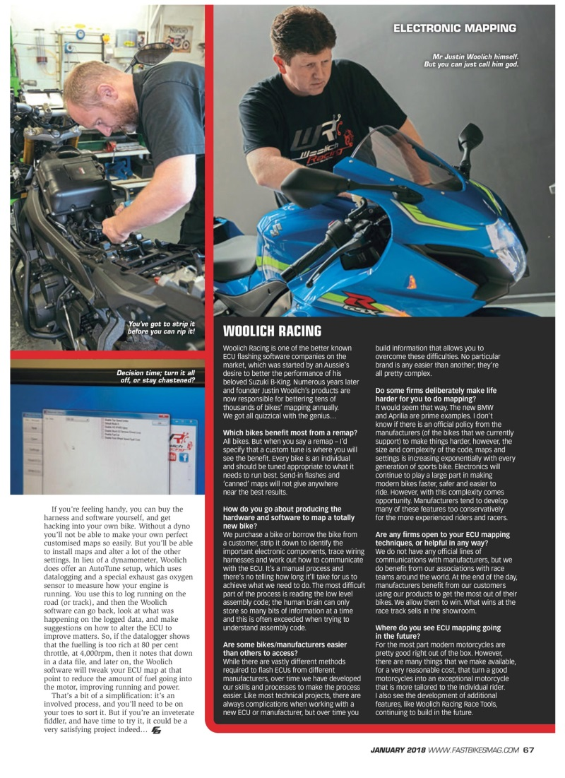 Electronic Mapping - Plug and Play Performance - Fast Bikes Article