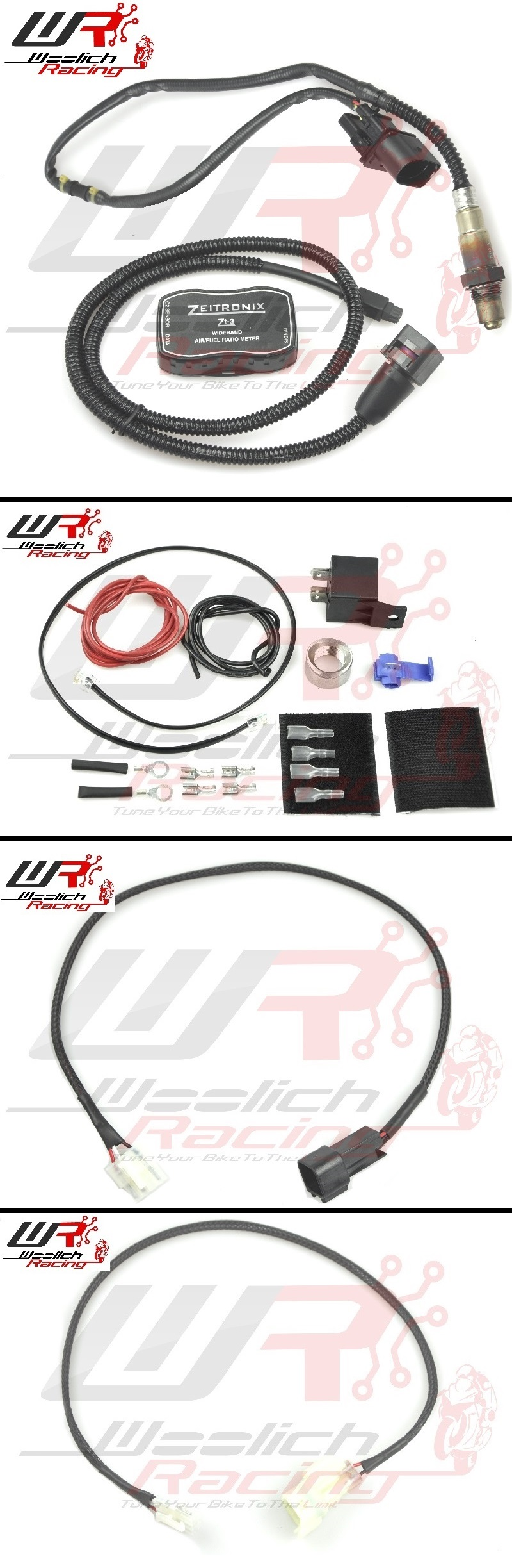 2012-2016 Kawasaki ER-6n Log Box (Denso) v3 + Zeitronix ZT-3 Wideband O2 Package